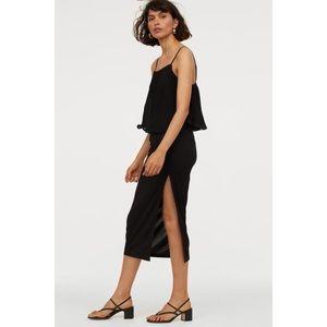H&M Black Skirt with Slit